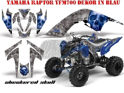 Checkered Skull für Yamaha Quads