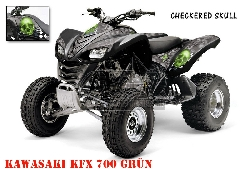 Checkered Skull für Kawasaki Quads