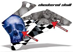 Checkered Skull für Kawasaki UTV