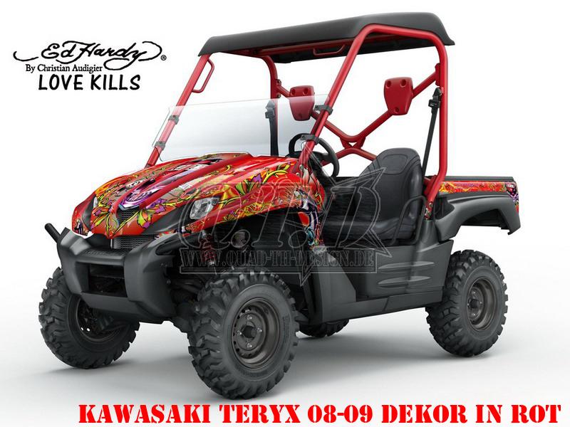 EdHardy - Love Kills für Kawasaki UTV