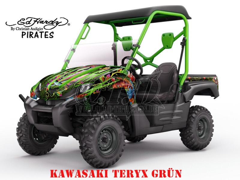 EdHardy - Pirates für Kawasaki UTV