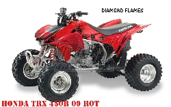 Diamond Flame für Honda Quads