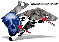 Checkered Skull für Polaris Quads