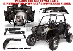 Checkered Skull für Polaris UTV