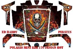EdHardy - Pirates für Polaris UTV