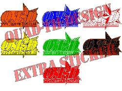kleine Quad-Th-Design Logo Aufkleber