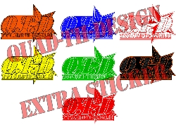 große Quad-Th-Design Logo Aufkleber