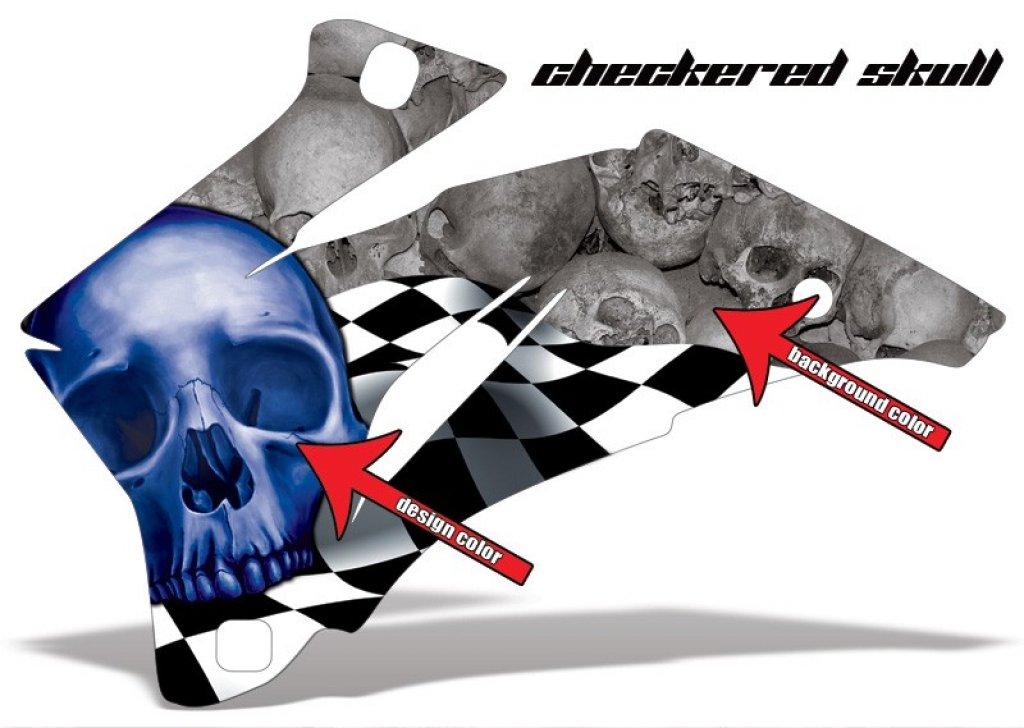 Checkered Skull für Kawasaki ATV
