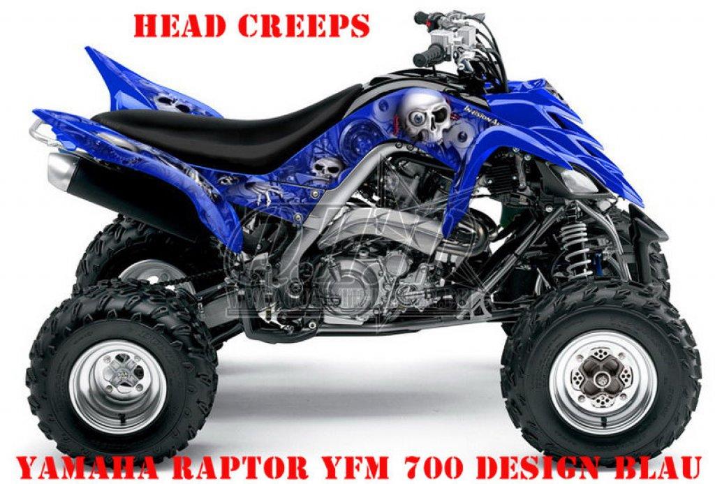 Sonderpreis: Head Creep für Yamaha Raptor YFM 700 06-12 in Blau Lagerware