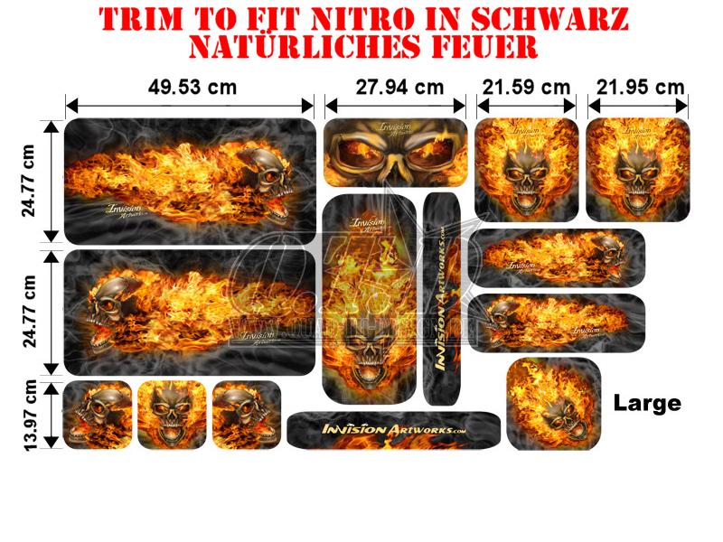 Trim to Fit Universal Nitro Dekorsatz Große Ausführung