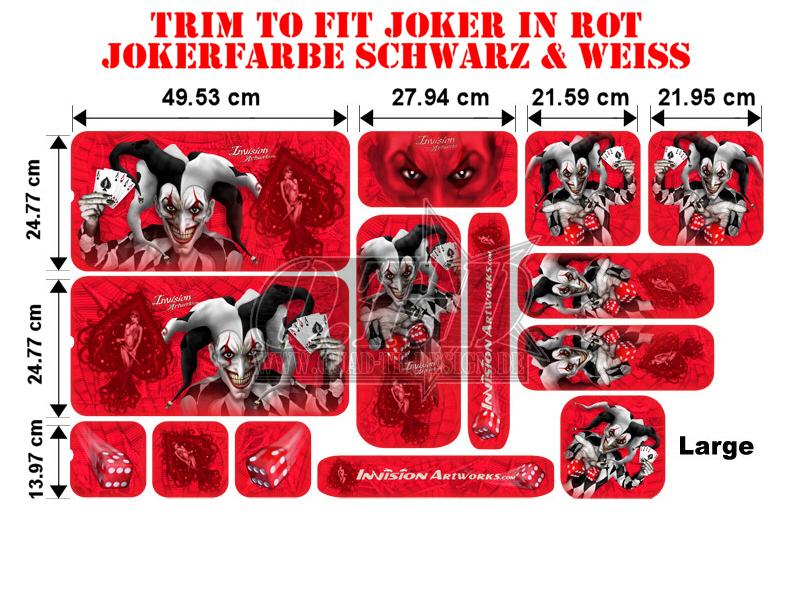 Trim to Fit Universal Joker Dekorsatz Große Ausführung
