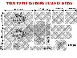 Trim to Fit Universal Invision Plaid Dekorsatz Große Ausführung