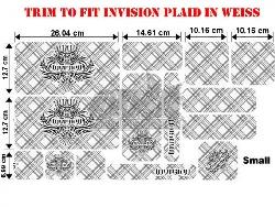 Trim to Fit Universal Invision Plaid Dekorsatz Kleine Ausführung