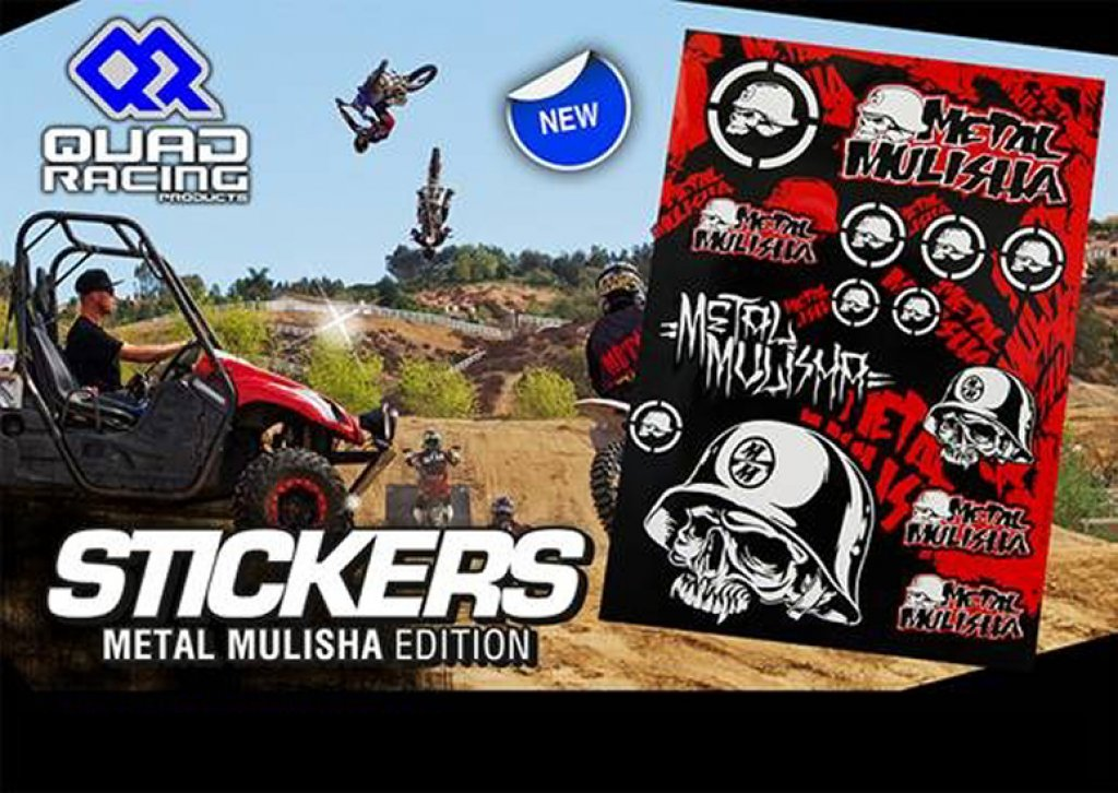 4MX Racing Parts  Sticker Set Metal Mulisha