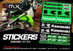 4MX Racing Parts Sticker Set Kawasaki