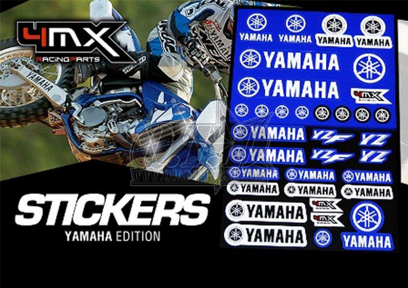 4MX Racing Parts Sticker Set Yamaha