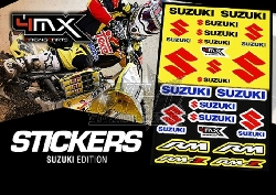 4MX Racing Parts Sticker Set Suzuki