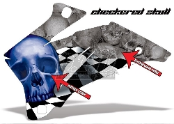 Checkered Skull für Yamaha ATVs ab 2015+