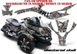 Checkered Skull für die CAN-AM Spyder