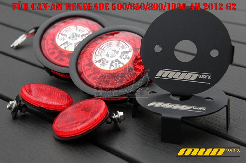 mud worx led swap r ckleuchten kit f r can am renegade g2. Black Bedroom Furniture Sets. Home Design Ideas