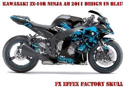 FX - Factory Effex Skull für Kawasaki Sport Bikes