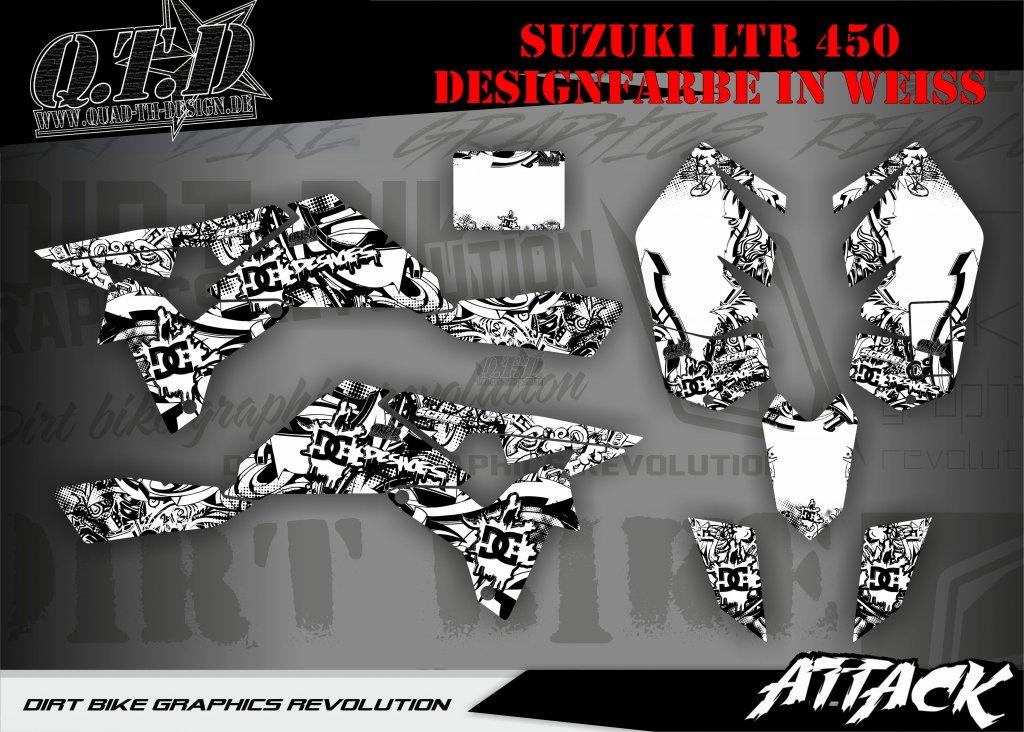 Attack Dekor für Suzuki Quads