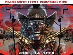 Zombie Outlaw Splatter für Polaris UTV