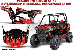 Tribal Flames für die Polaris UTV RZR 900S & 1000 XP