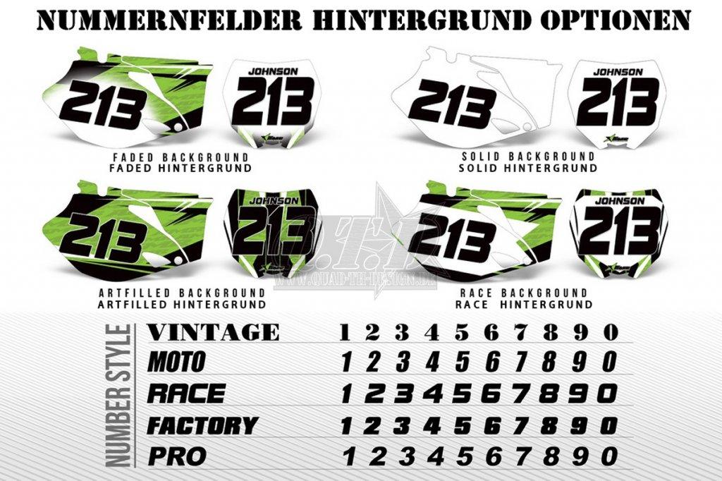 AMR Numberplates für MX Motocross Bikes