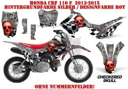 Checkered Skull für Honda MX Motocross Bikes