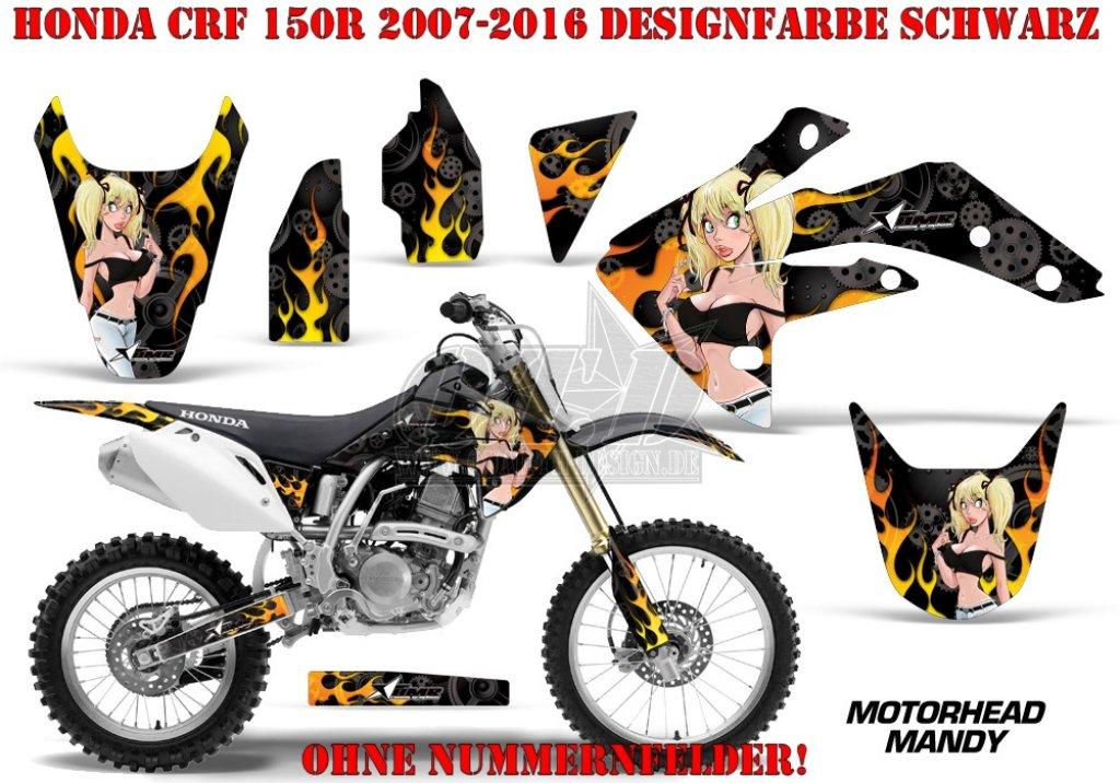 Motorhead Mandy für Honda MX Motocross Bikes