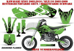 Diamond Flame für Kawasaki MX Motocross Bikes
