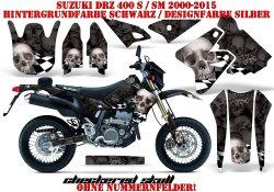 Checkered Skull für Suzuki MX Motocross Bikes