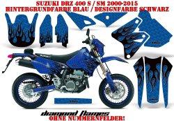 Diamond Flame für Suzuki MX Motocross Bikes