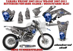 Checkered Skull für Yamaha MX Motocross Bikes