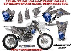 Checkered Skull für Yamaha MX Motocross Bikes