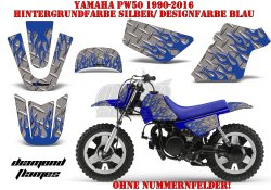 Diamond Flame für Yamaha MX Motocross Bikes