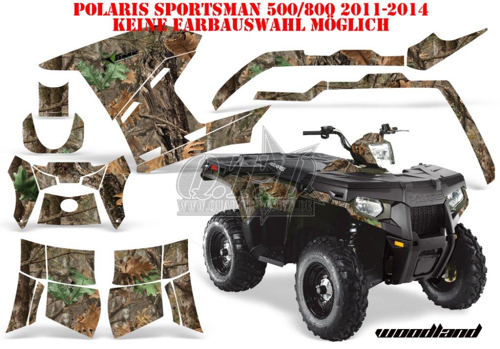 Sonderpreis Woodland Camo für Polaris Sportsman 400/500/800