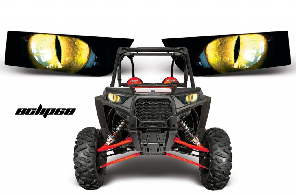 Sonderpreis: Head Light Eye, Frontscheinwerfer Dekor Eclipse für POLARIS RZR 1000/900S