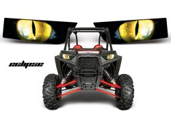 Sonderpreis: Head Light Eye, Frontscheinwerfer Dekor Eclipse für POLARIS RZR 1000/900S