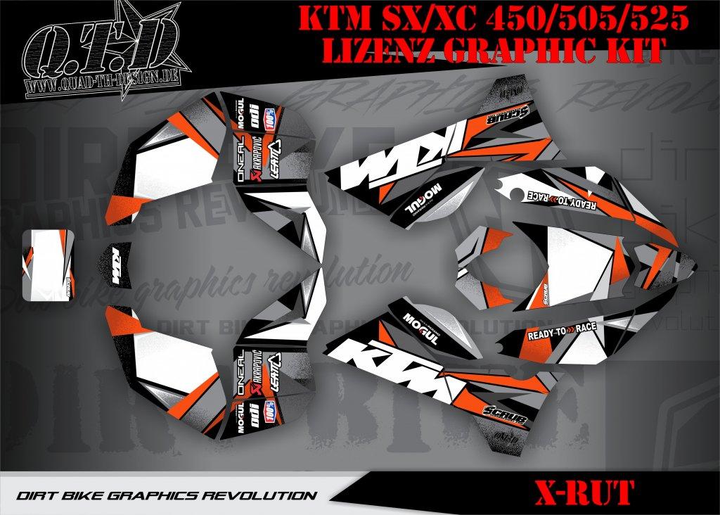 KTM X-RUT Dekor für KTM Quads