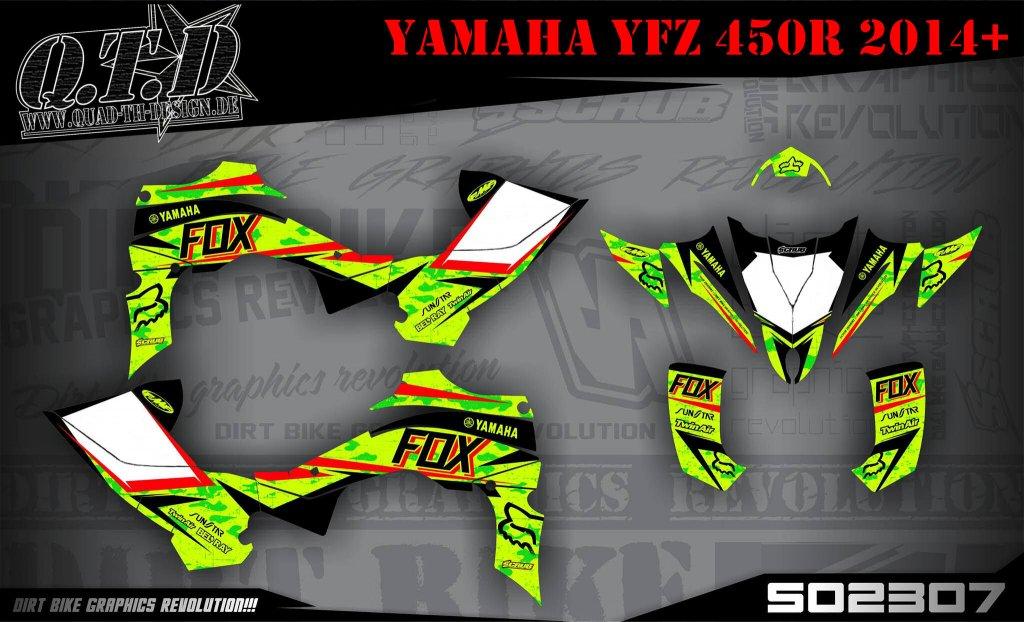 SO2307 & SO1889 Dekor für Yamaha YFZ Quads
