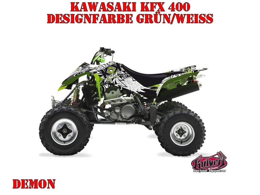 Kutvek Demon Dekor für Kawasaki Quads
