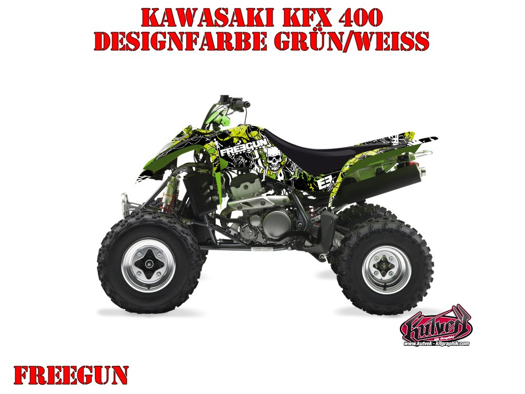 Kutvek Freegun Dekor für Kawasaki Quads