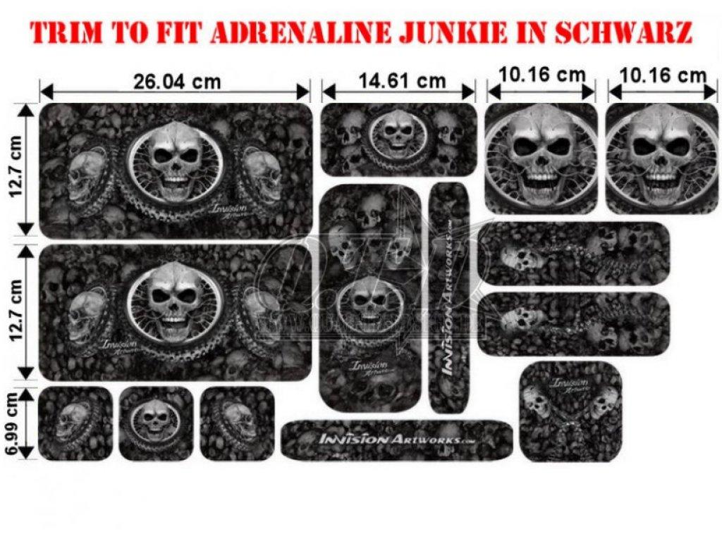 Sonderpreis Trim to Fit Universal Adrenaline Junkie Dekorsatz Kleine Ausführung