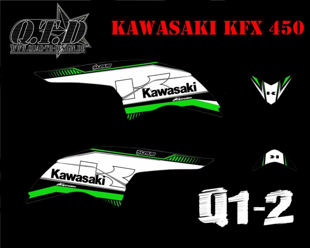 Kawasaki Q1 Teil Dekor für Kawasaki KFX 450