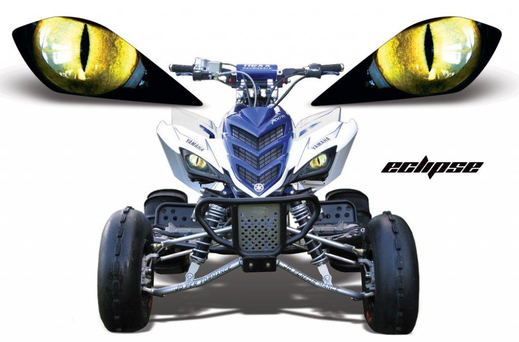 Sonderpreis: Head Light Eye, Frontscheinwerfer Dekor Eclipse für Yamaha Raptor