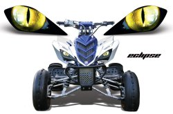 Sonderpreis: Head Light Eye, Frontscheinwerfer Dekor Eclipse für Yamaha Raptor