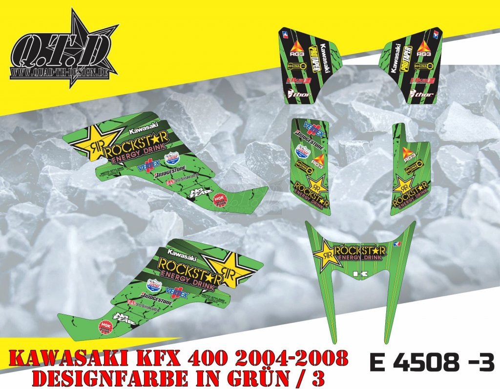 Sonderpreis E4508-3 für Kawasaki KFX 400 & Suzuki LTZ 400