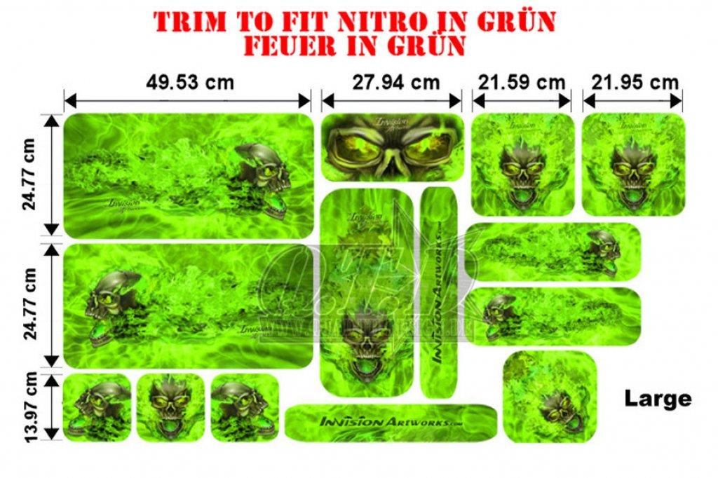 Sonderpreis Trim to Fit Universal Nitro Dekorsatz Große Ausführung